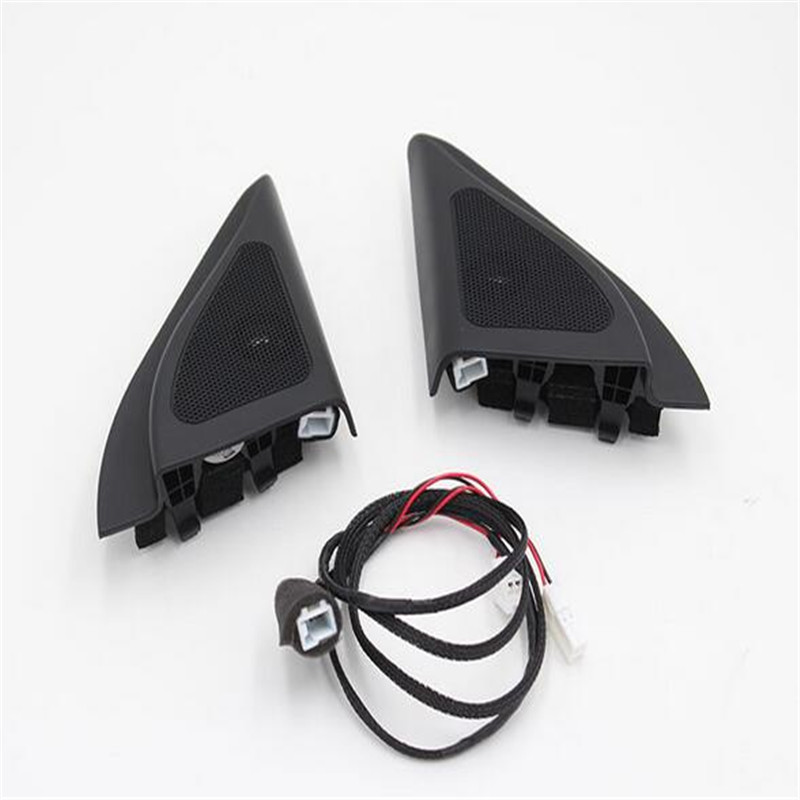 For ix25 speakers tweeter car-styling Audio trumpet head speaker ABS material triangle speakers tweeter free shipping jt 005a high efficiency dome tweeter component speakers for car audio system black pair