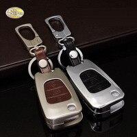 SNCNขายส่งรถโลหะผสมสังกะสีพวงกุญแจคลิปแหวนหนังแท้พวงกุญแจปกกรณีH Yundai I30