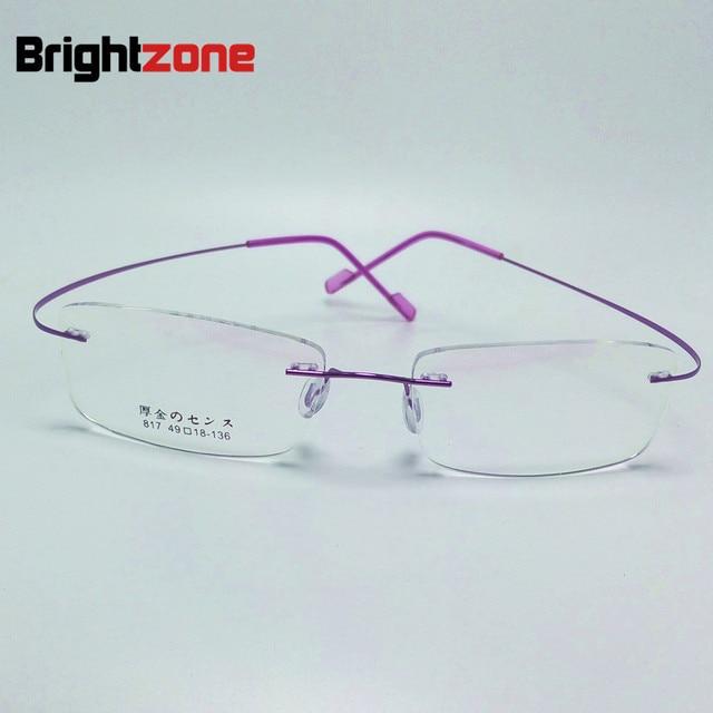 2017 New Memory Titanium Alloy Brand Glasses Frame Eyeglasses Men ...