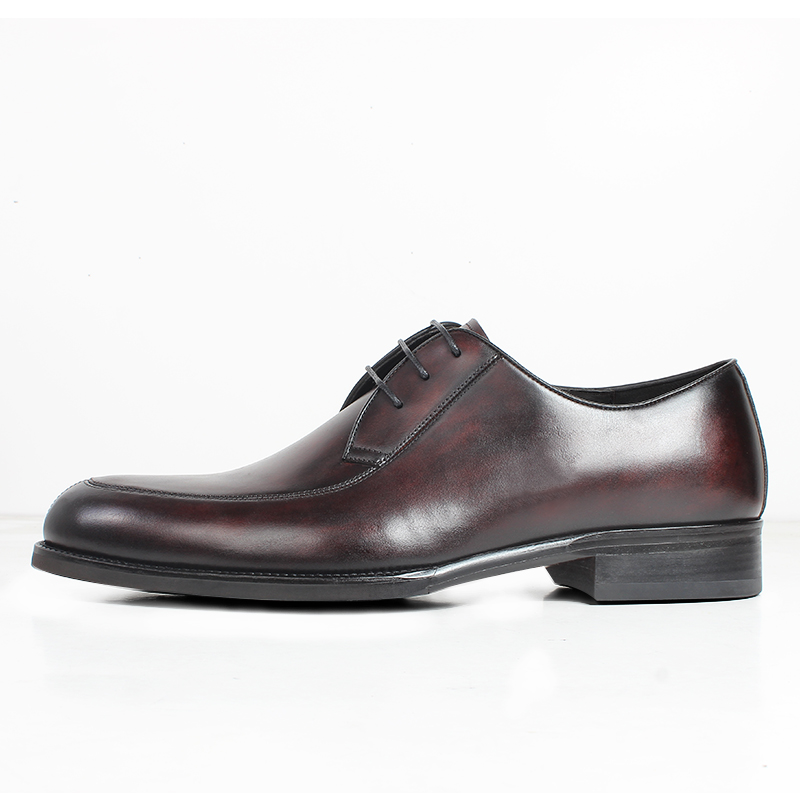 VIKEDUO Brown Spot Dyeing Men 39 s Dress Shoes Casual Leather Shoes Men Patina Handmade Wedding Office Mans Footwear Zapato Hombre in Men 39 s Casual Shoes from Shoes