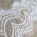Горячая распродажа 3 м высокое качество белый / черный ресниц отделкой ткани 18 см широкий свадьба DIY декоративных аксессуаров