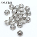 50pcs 6/8mm Wholesale Cone pattern beads Antique Metal Silver Spacer Beads for Jewelry Making H0413