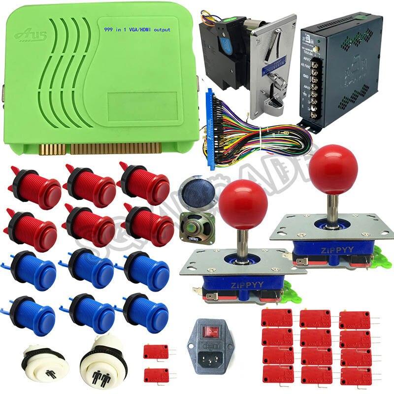 Pandora 999 en 1 kits d'arcade Multigame PCB VGA/CGA/HDMI Jamma arcade Multigame PC conseil long zippy joystick