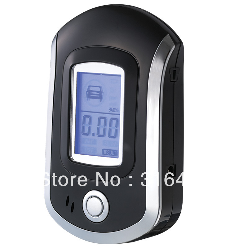 Portable Pocket Professional Police Digital Breath Alcohol Tester,Breathalyzer Analyzer, LCD Display, Free Shipping,wholesale