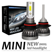 2pcs H10 HB3 9005 120W 12000LM 6000K LED Mini Car Headlight Bulbs Kit Automobile Fog Lamp Hi or Lo Light Bulb for Cars Vehicles цена в Москве и Питере