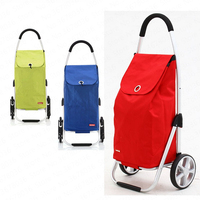 Aluminum Shopping Cart Shopping Cart Climbing Car Stroller Portable Small Cart Folding Trolley Car