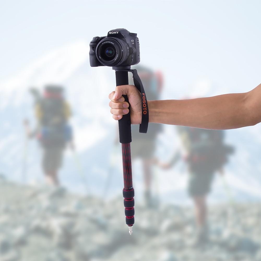 Fusitu Portable voyage bâton de marche en Fiber de carbone caméra monopode Unipod pour Canon Nikon Pentax Sony Fuji Lumix Olympus DSLR-in Trépieds from Electronique    2