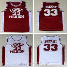 a84644288c5 ... college lower merion jersey high school 33 kobe bryant basketball  jerseys hightower crenshaw red whi