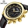 Luxury Brand MEGIR Gold Men S Military Quartz Wristwatch Fashion Casual Dress Business Sport Watch Men