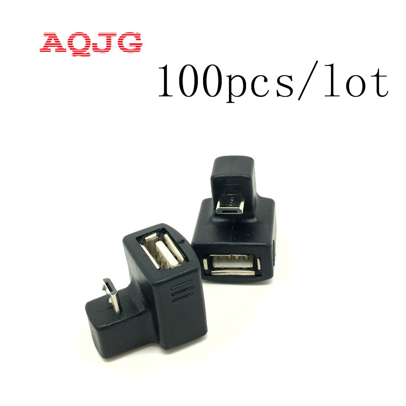 180 Degree Up Down Right Angled V8 Micro USB OTG to USB 2.0 Female Extension Adapter connector for Cell Phone & Android Tablet u2 338 up micro usb2 0 elbow to a female 180 degree otg mobile phone flat panel access u disk adapter