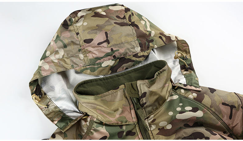 MEGE Men's Waterproof Military Tactical Jacket Men Warm Windbreaker Bomber Jacket Camouflage Hooded Coat US Army chaqueta hombre 89