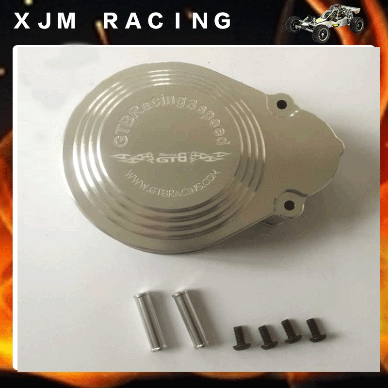 Aluminum Gear cover of GTB 3 Speed Transmission Kit for 1/5 HPI BAJA RV KM 5B 5T 5SC rc car parts