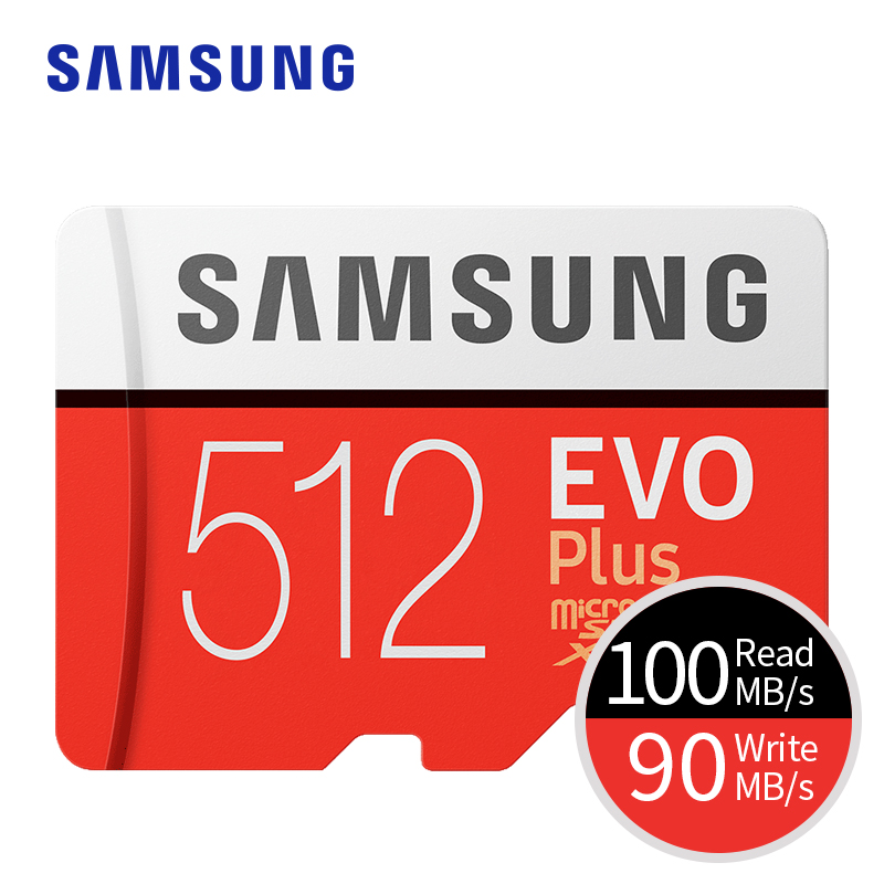 Carte mémoire SAMSUNG Micro SD EVO PLUS 512 go SDHC SDXC Grade Class10 C10 UHS-1 TF cartes mémoire Flash 4K microsd - 2