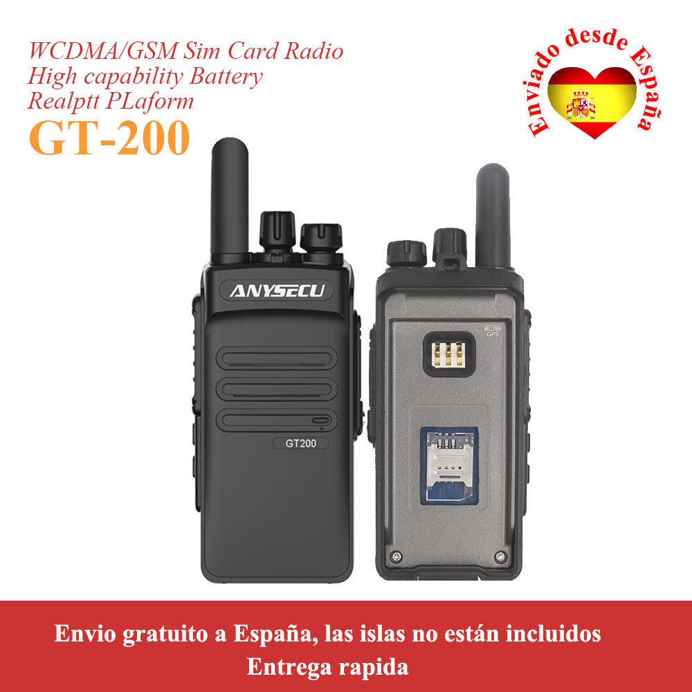 3G Network Radio 3G-GT200 With GPS Portable Network Intercom GT200 Walkie Talkie WCDMA Two Way Radio Global Call