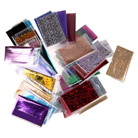 Best Sale 50 Random Lot Colors Foil Galaxy Nail Sticker Paper Shiny Decal
