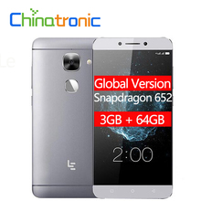 Küresel Sürüm LeTV LeEco Le 2X526X520 3G RAM 64G ROM FDD LTE Cep Telefonu snapdragon 652 Octa Çekirdek 5.5