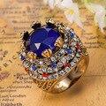 Venda quente Azul Anel Para Homens Masculino Colar Turquia Turco Jóias Melhor Traje Africano Jóias Aneis Anéis das Mulheres Do Vintage