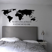 DCTOP The World Is A Book World Map Wall Stickers Bedroom High Quality Home Decor Vinyl