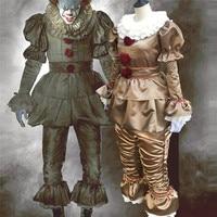 Stephen King's It Pennywise Cosplay Movie Costume Scary Joker Suit Men Women Fancy Halloween Party Clown Costumes