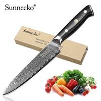 SUNNECKO 5 inch Utility Knife Damascus Cut Sharp Kitchen Knives Japanese VG10 Steel Blade G10 Handle Multipurpose Cutter Tool