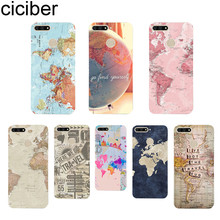 ciciber World Travel Map Plans for Huawei Y9 Y7 Y6 Y5 Y3 Prime Pro 2018 2017 2019 Soft TPU Clear Back Cover Phone Cases Capa