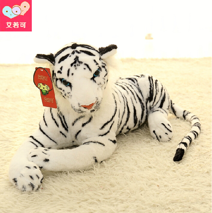 Kawaii Cute White Tigers Plush Toys Simulation Tigers