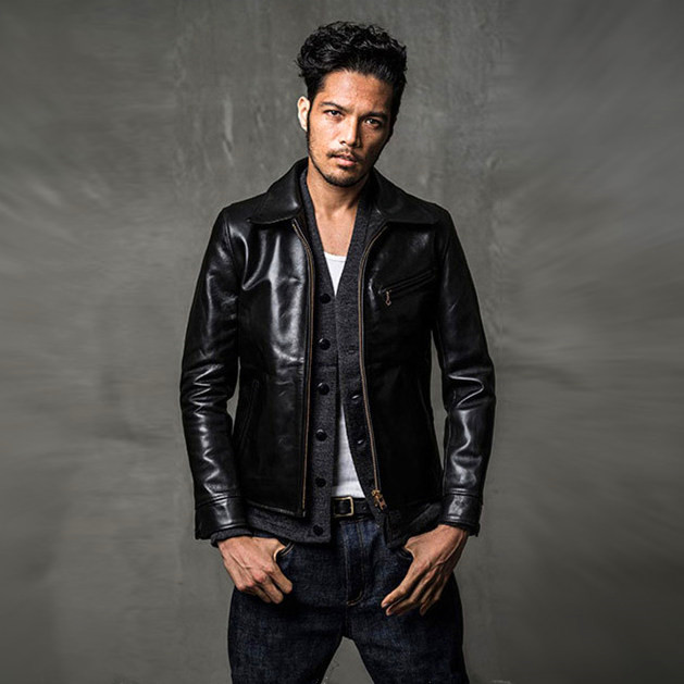 Free shipping.Brand classic horseskin leather coat,mens 100% genuine leather Jackets,fashion man slim japan jacket,quality