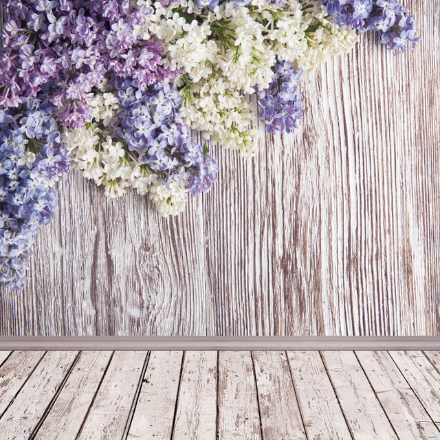 Thin Vinyl photography background spring flowers Customize Backdrop Wooden Board Background for photo Studio home decoration