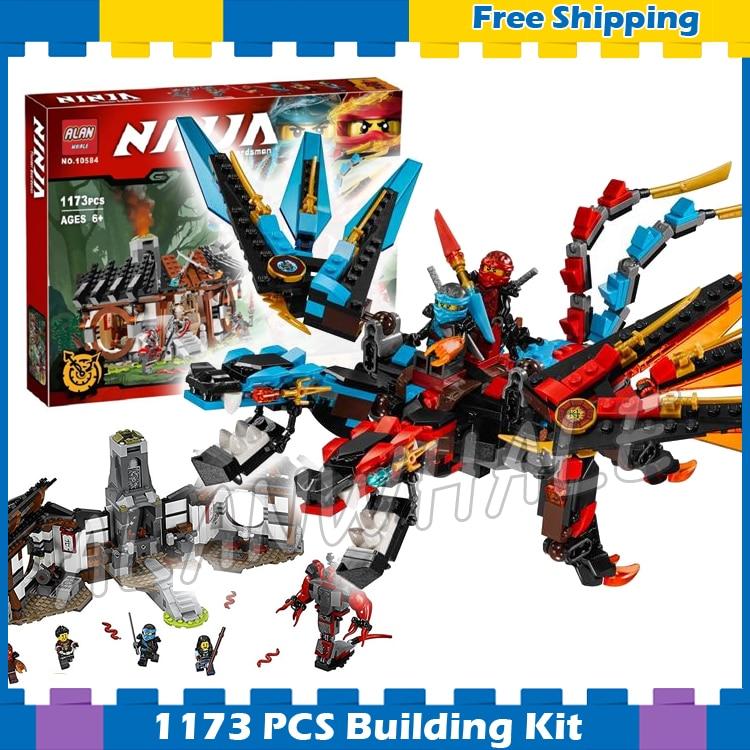 1173pcs Ninja New 10584 Dragon's Forge DIY Model Building Kit Blocks Gifts Toys Compatible With lego электронная ударная установка alesis forge kit