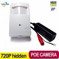 HQCAM POE 720P 1.0MP ONVIF2.0 P2P Plug and Play Mini pir camera ip mini POE IP Camera PIR Style Motion Detector POE System
