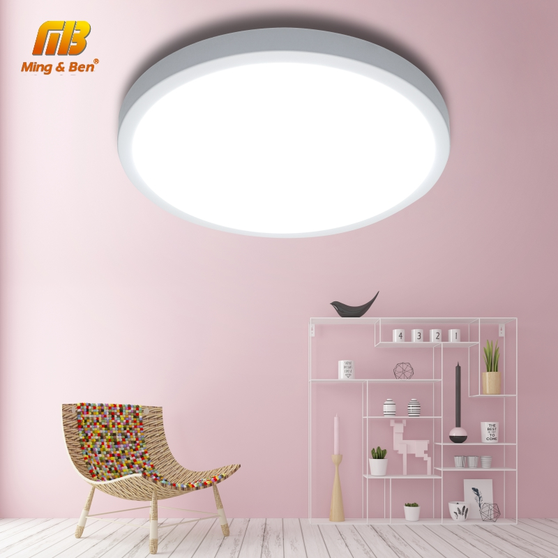 LED UFO panneau lampe LED plafonniers 48W 36W 24W 18W 13W 9W 6W SMD2385 facile installer AC85-265V chambre moderne Smart plafonnier