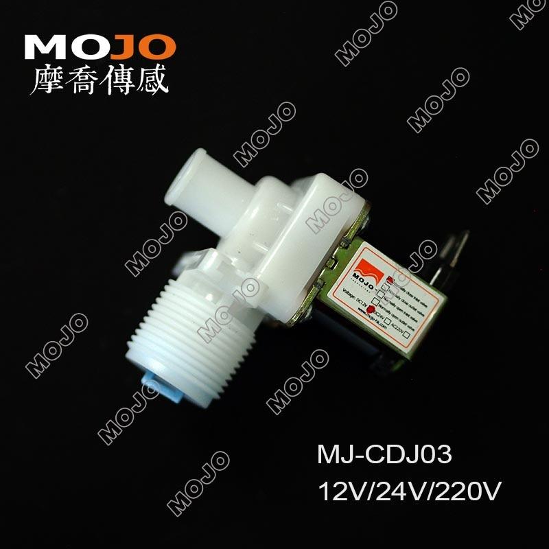 """Gratis Verzending! Mj-cdj03 Magneetventiel G3/4 """"-15mm Verticale Size 12 V L Type Nc Inlaat Elektromagnetische Klep Normaal Gesloten Inlaat Verpakking Van Genomineerd Merk"""
