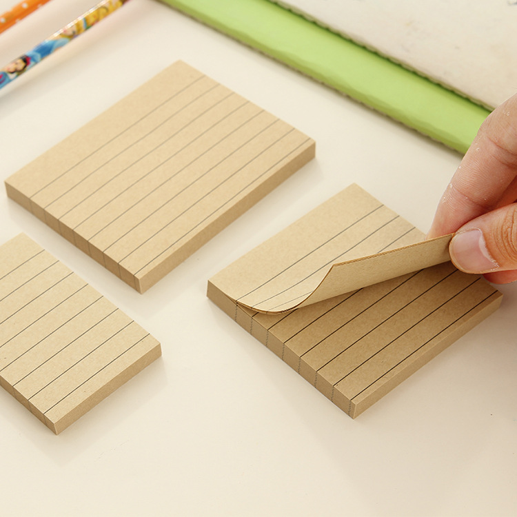 80 Pages Kraft Paper Memo Pad Kawaii Stationery Office Supplies Quality Notepad Diy School Stationery Office Desk Decoration