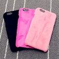 Moda Hot qualidade de pelúcia Fundas caso para o iPhone 6 6 s 6 plus capa Furry capa dura para o iPhone 6 4.7 5.5 Coque A1352