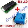 DHT11 Umidade Digital e Sensor de Temperatura + 1602 16x2 Caráter LCD SPLC780D FZ0067 + FZ0037Free Grátis