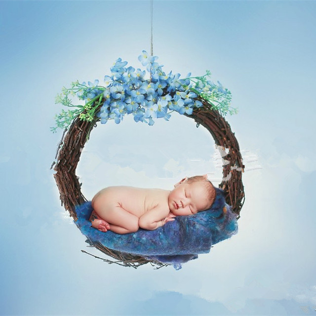 Newborn photography wool blanket backdrop blanket newborn basket stuffer 6060cm