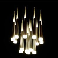 Moderne Plafonniers Mode Maison De Luxe À Manger Salon Escaliers Décoration LED Plafond lampe Cône tube Spirale Suspendu lumière