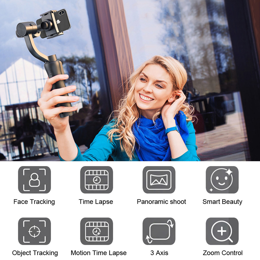 Image 2 - KEELEAD 3 Axis Handheld Gimbal Stabilizer w/Focus Pull & Zoom for iPhone Xs Max Xr X 8 Plus 7 6 SE Samsung Action Camera-in Handheld Gimbals from Consumer Electronics
