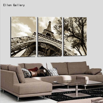 Wall art Modern Picture Canvas Painting Wall Pictures For Living Room Quadro Cuadros Decoration Paris City Eiffel Tower No frame