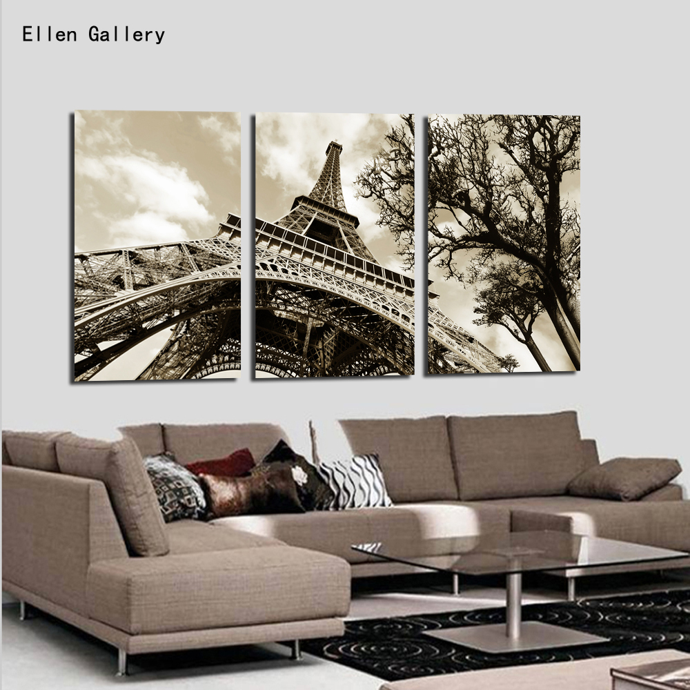 wall art modern picture canvas painting wall pictures for living room quadro cuadros decoration paris city
