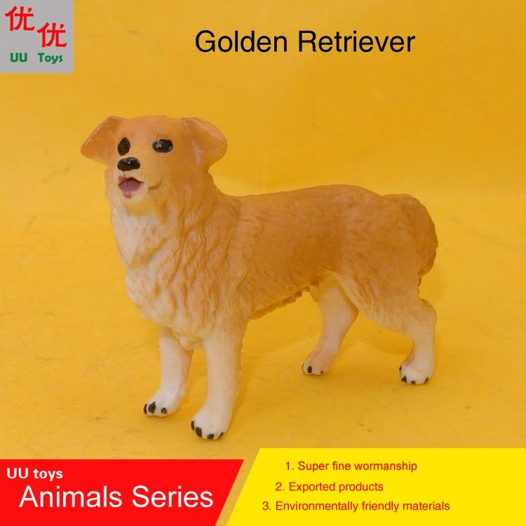 Hot toys: Small Golden Retriever Dog simulation model  Animals   kids  toys children educational props