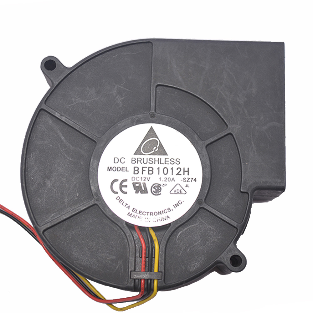 DC 12V Brushless Turbine Cooling Blower Fan Cooler 3-Pin 4500RPM 97x94x33mm PBT