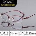 Gafas graduadas nueva titanium gafas de miopía marcos de anteojos caja marco de media las mujeres de moda 8276