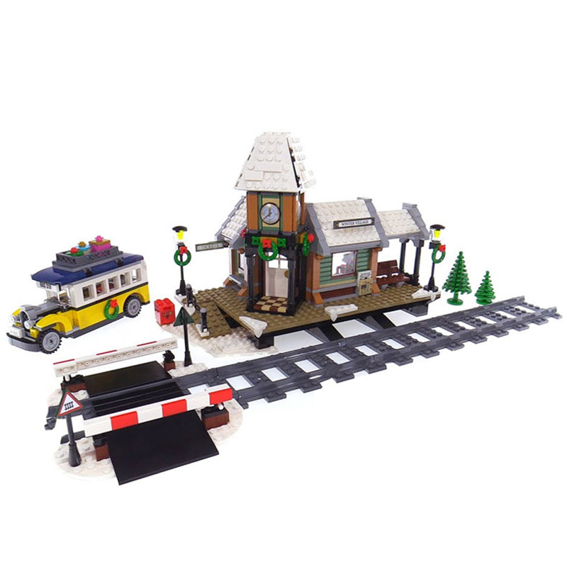 New 36011 Create series The Winter Village Station  Model Building Blocks Compatible 10259 classic architecture Toy for children new 18029 my world series the ocean monument model building blocks set compatible 21136 classic architecture toy for children