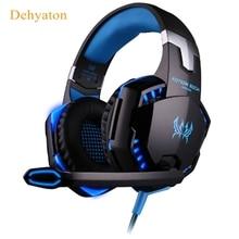G2000 Deep Bass Juego Rodeado Over-Ear Auriculares Estéreo Gaming Headset Diadema Auricular con la Luz para Pc Gamer