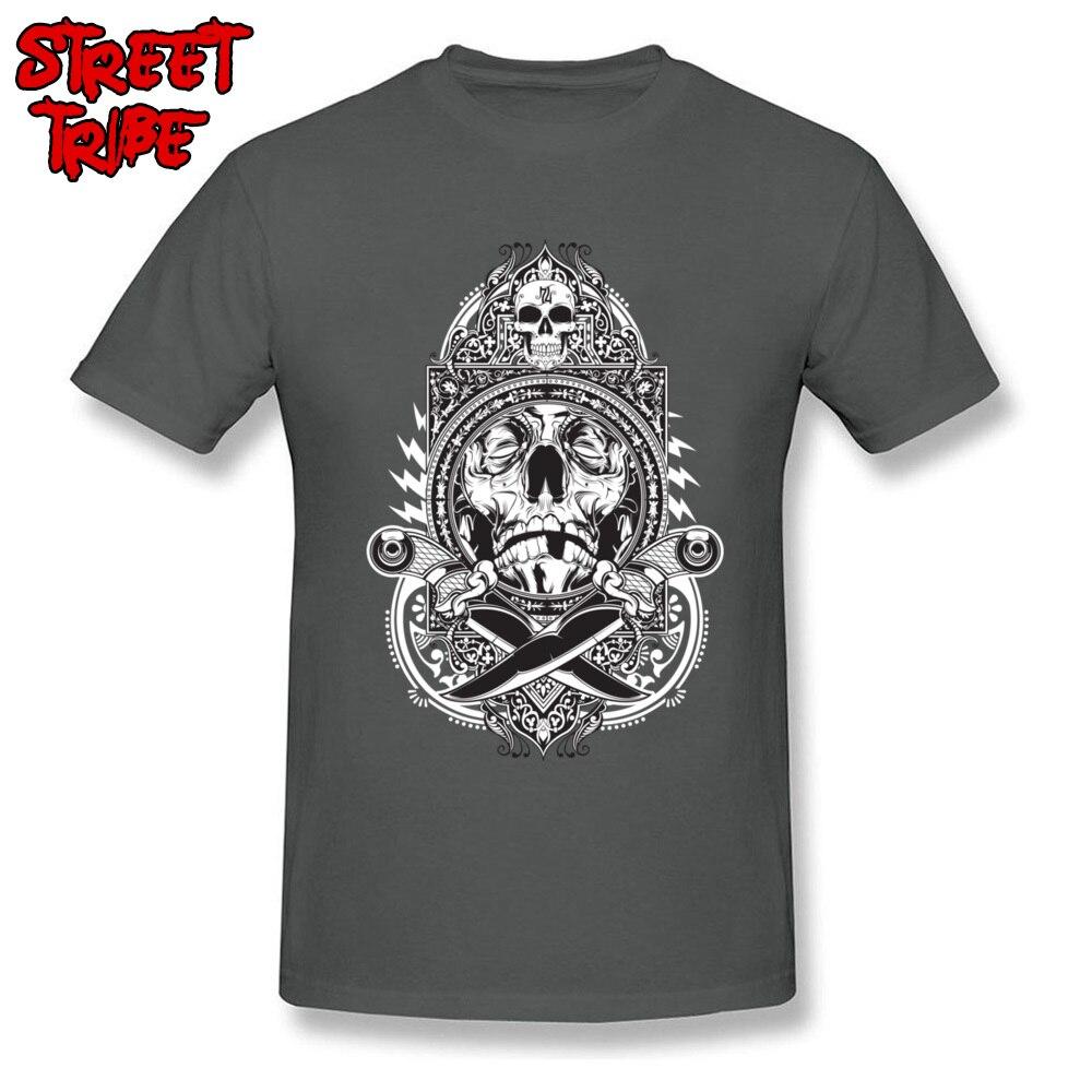 96988286e784 Latest Men T Shirts Punk Skull Tees Knife Fight T-shirt Guys Funky Tshirt  Black White Tops Cotton Clothes 3D Pirate Streetwear