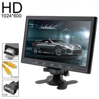 10.1 Inch 16:9 HD 1024*600 TFT LCD Color Car Rear View Monitor DVD VCD Headrest Vehicle Monitor Support Audio Video HDMI VGA