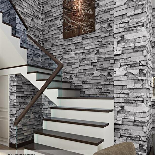 Beibehang Chinese Style Brick Wallpaper Hotel Restaurant