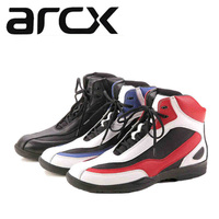 100% Genuine ARCX Motorcycle Riding Shoes Casual Cow Leather Street Moto Road Racing Lesure Motorbike Touring Biker Boots Boats