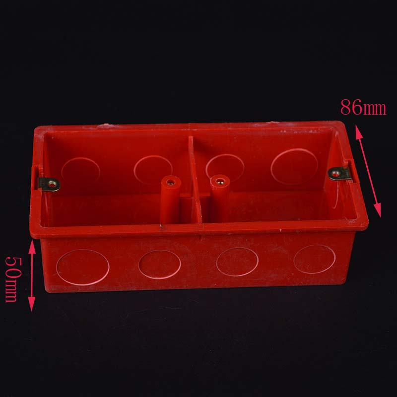 10pcs pvc blocking resistance switch wiring box red double. Black Bedroom Furniture Sets. Home Design Ideas